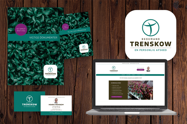 Bedemand Henrik Trenskow fik ny identitet, tryksager, website og SEO